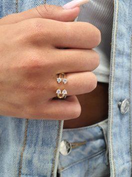 טבעת פתוחה סוליטרים